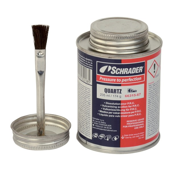 Schrader Dose mit Lösungsmittel Quartz 235 ml Inc