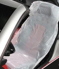 100 Stück Einweg-Sitzschoner, weiß