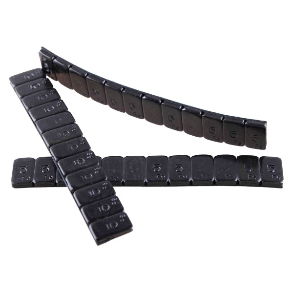 Klebegewicht Riegel 5/5 - 100 Riegel a 60 Gramm doppelt beschichtet schwarz