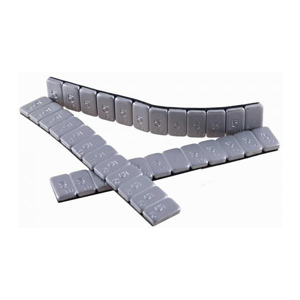 Klebegewicht Riegel 5/10 - 100 Riegel a 60 Gramm doppelt beschichtet silber